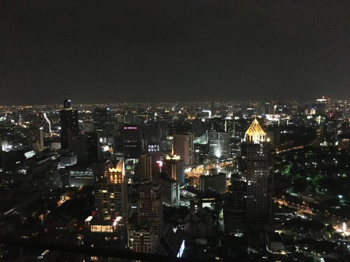 ルーフトップレストラン「Vertigo」からのバンコクの景色