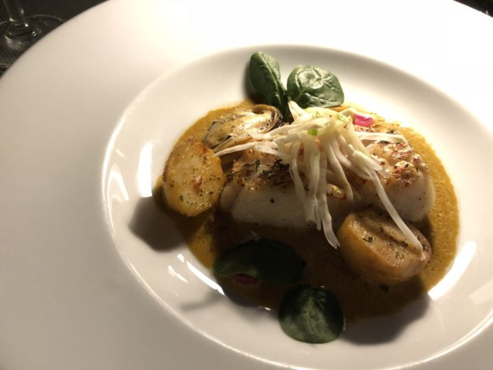 ルーフトップレストラン「Vertigo」のコース料理