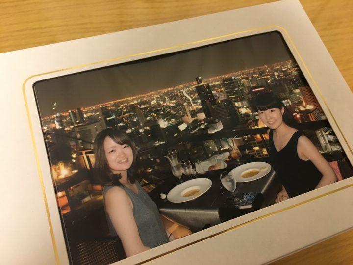 ルーフトップレストラン「Vertigo」でもらえる写真