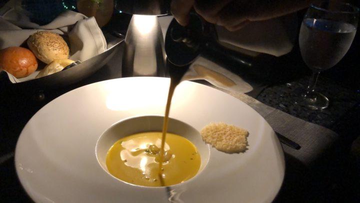 ルーフトップレストラン「Vertigo」のスープ