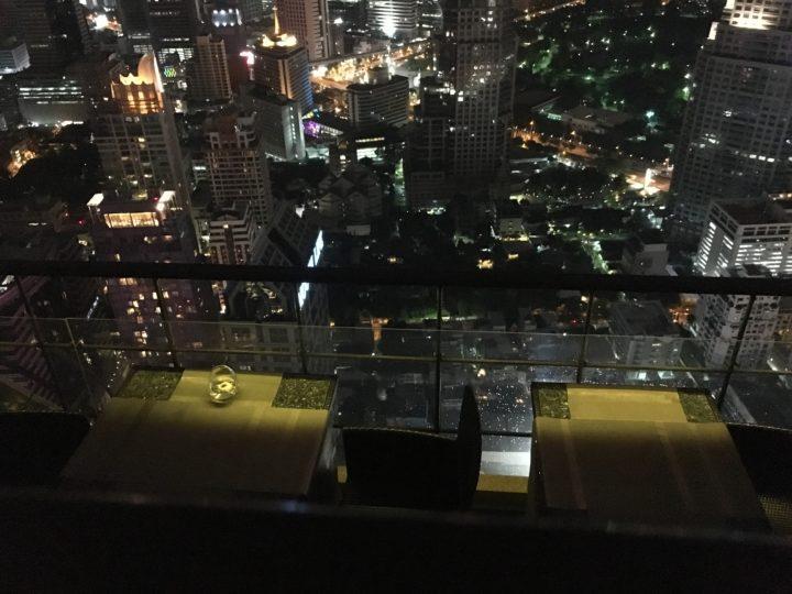 ルーフトップレストラン「Vertigo」から見下ろした景色
