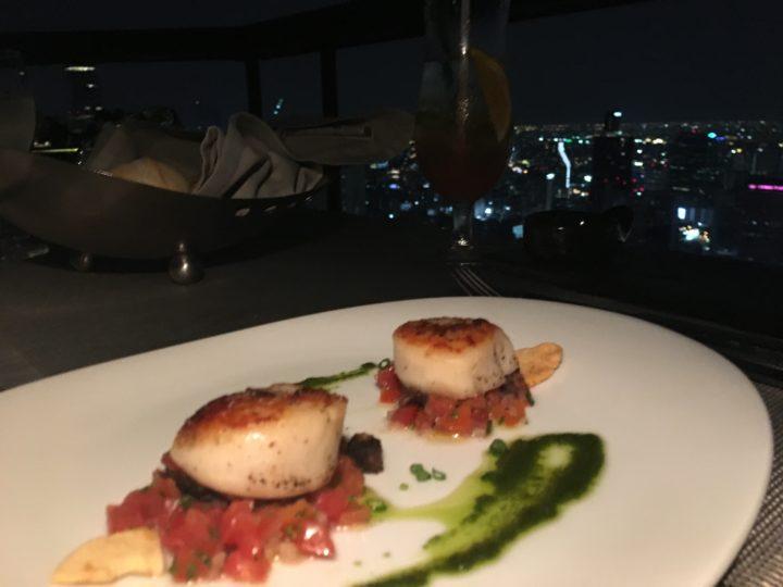 ルーフトップレストラン「Vertigo」の魚料理