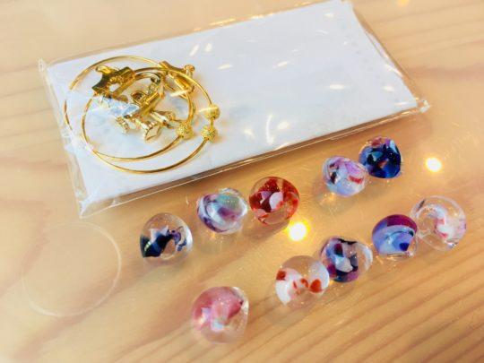 富山ガラス美術館 ガラスイヤリングキット