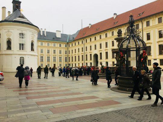プラハ城の中庭