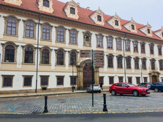 プラハ城 近く ヴァレンシュタイン宮殿