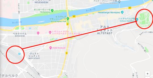 ハイデルベルク城 アクセス