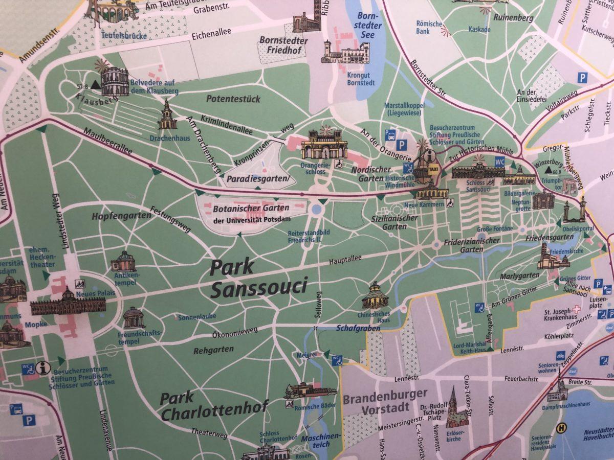 ポツダム 地図
