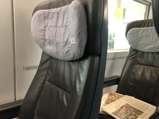 ドイツ鉄道(DB)一等車の座席