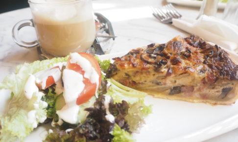 """ブリュッセルでおすすめカフェ""""ARCADI CAFE""""のキッシュ"""