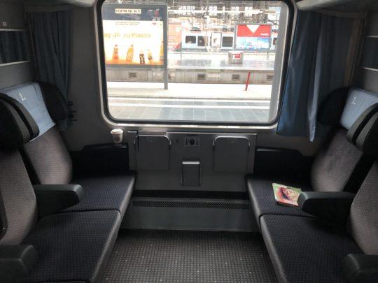 ドイツ列車のコンパートメント車両