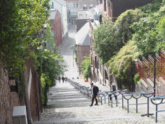 ベルギーのビューラン山の階段