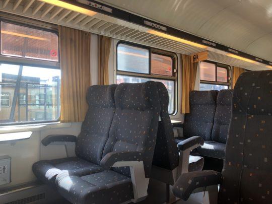 ルクセンブルクからリエージュへ向かう列車