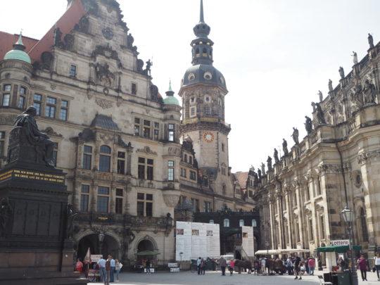 改築工事中のドレスデン王宮