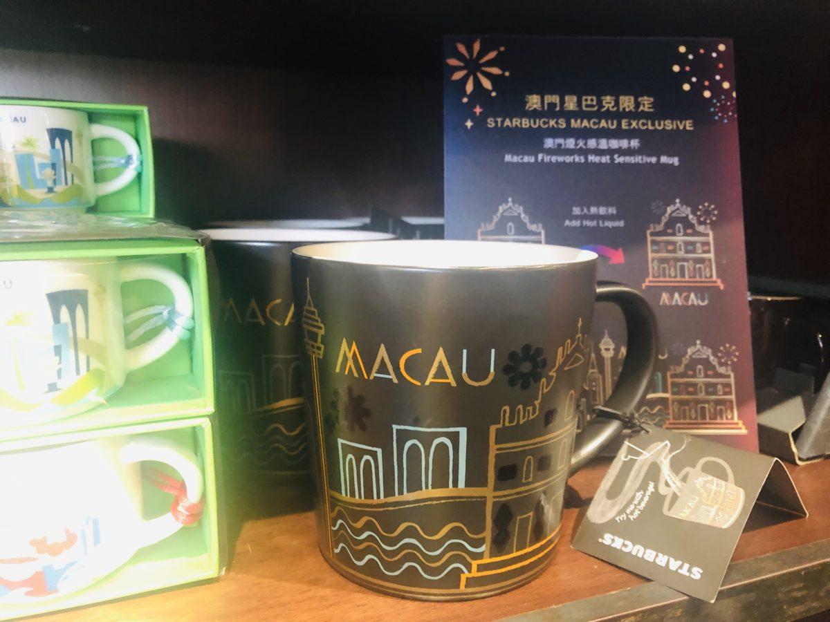 マカオ花火ショーデザインのスタバのマグカップ