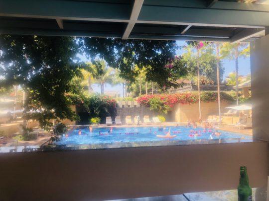 ムリアリゾートの共用プール