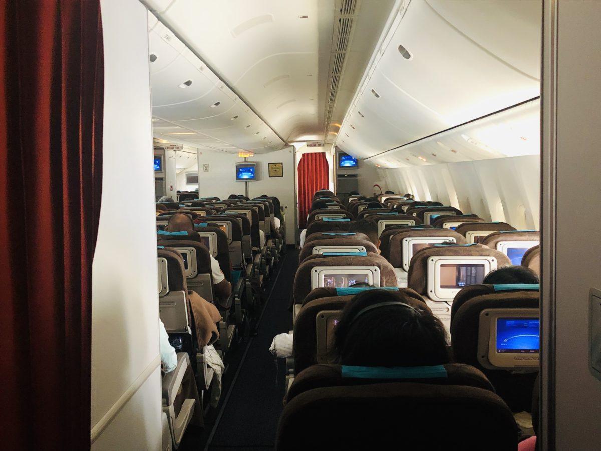 ガルーダインドネシア航空のエコノミークラス座席
