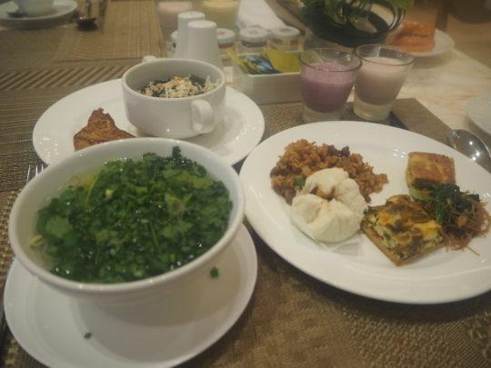 ムリアリゾートのザ・カフェの朝食ブッフェ