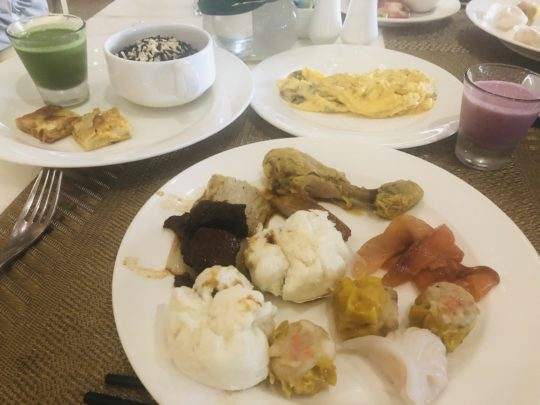 ムリアリゾートのザ・カフェのブッフェ朝食
