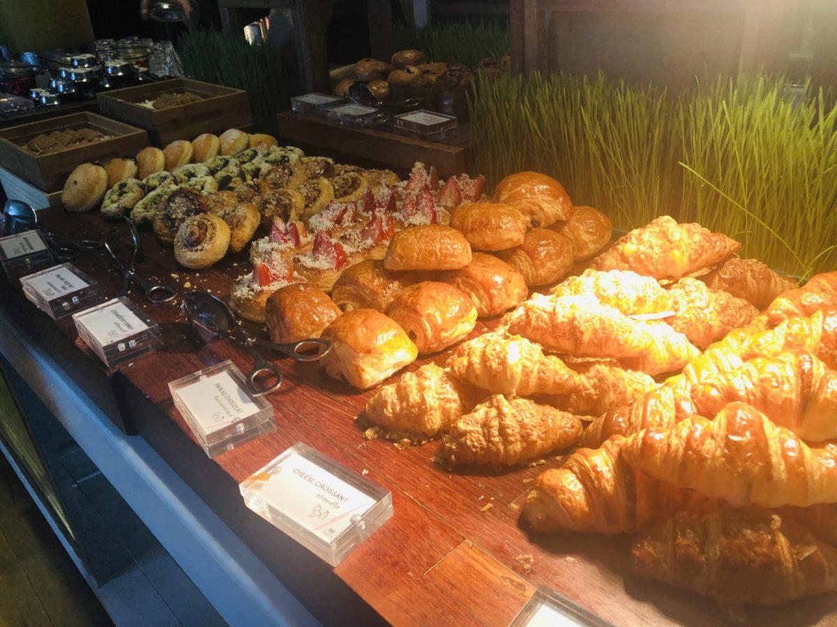 タイのWバンコクホテルの朝食 デザートパン