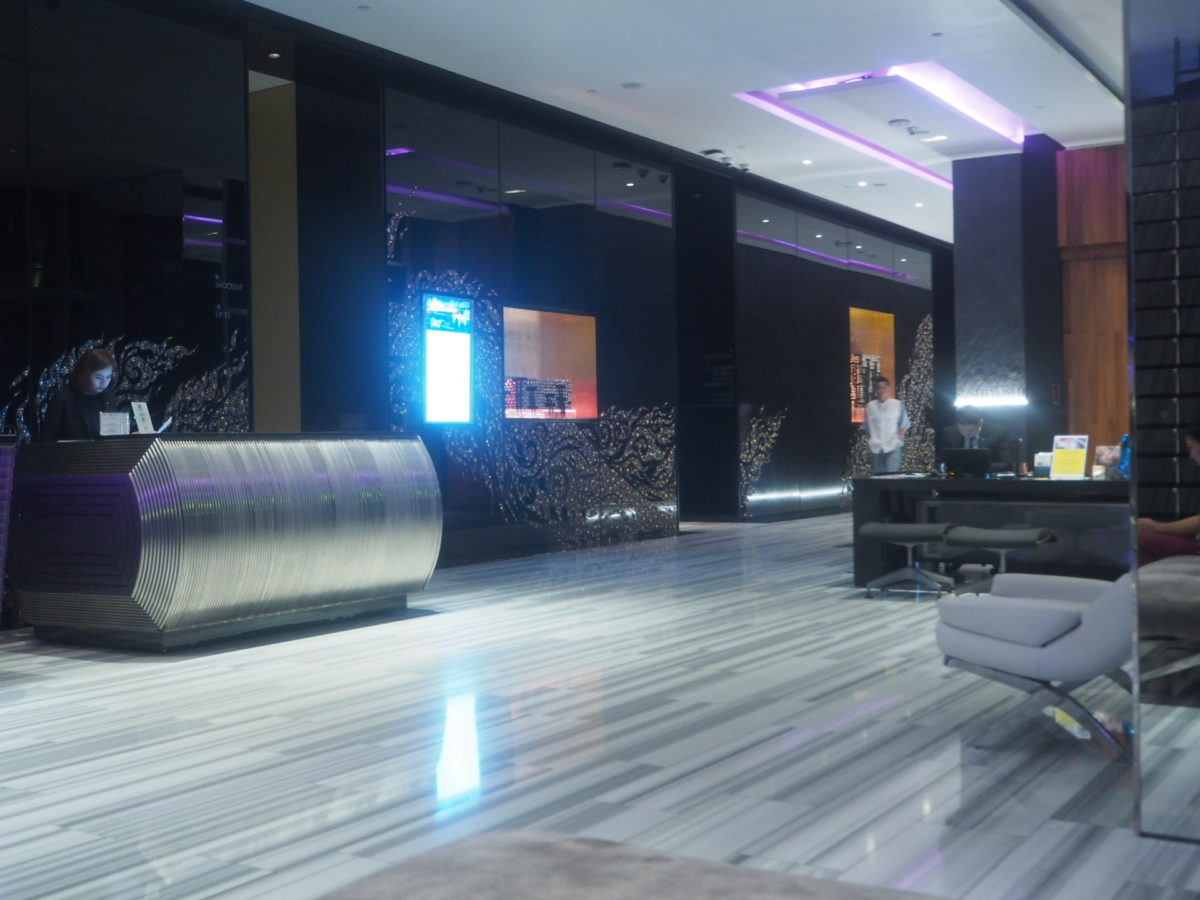 タイのWバンコクホテルのレセプション