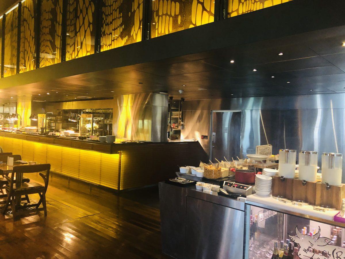 タイのWバンコクホテルの朝食2階