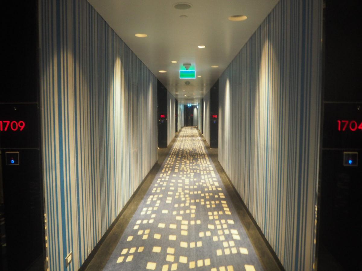 タイのWバンコクホテルの廊下