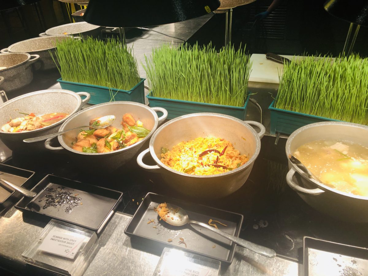 タイのWバンコクホテルの朝食 タイ料理