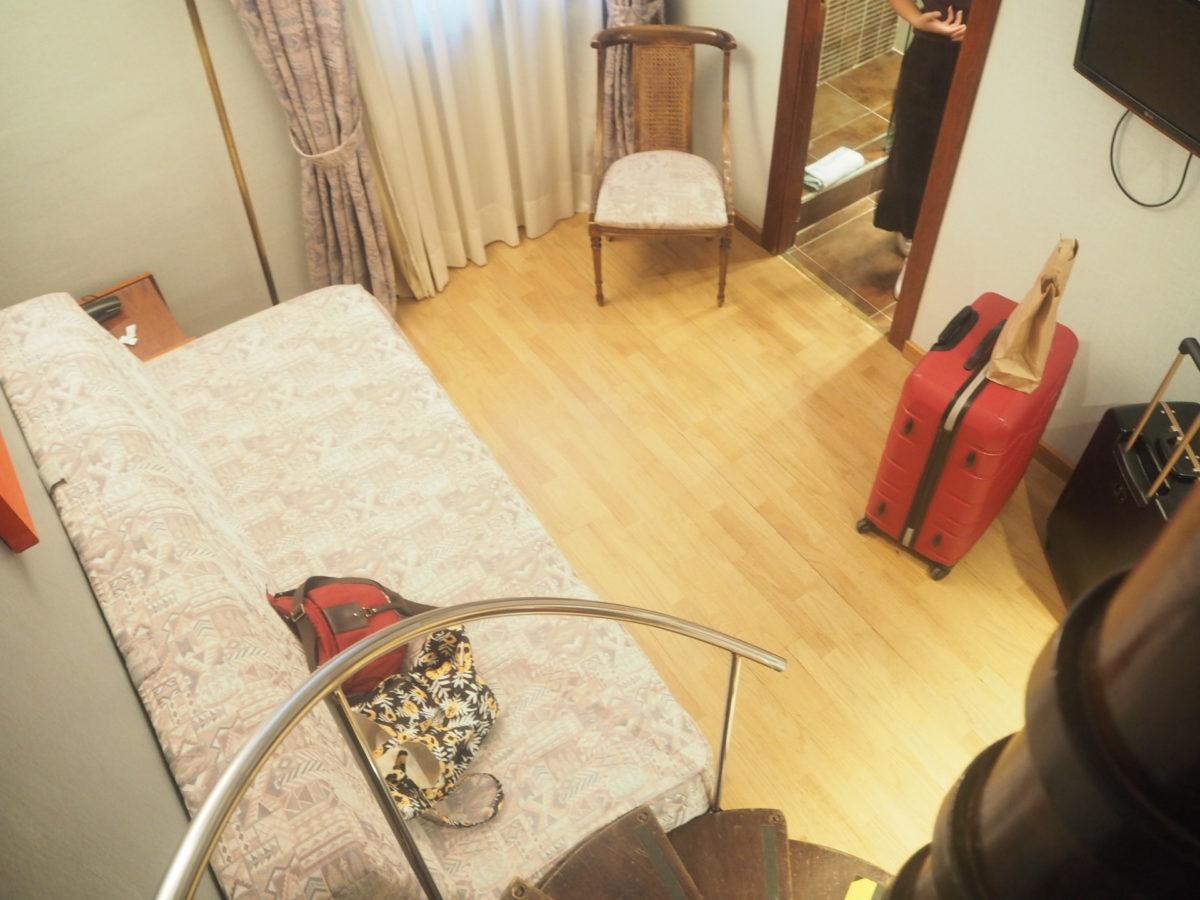 バルセロナの「ホテルリアルト」の客室