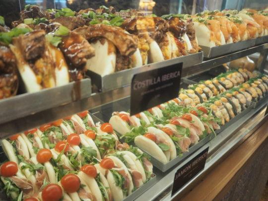 サンミゲル市場のサンドイッチ