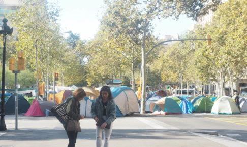カタルーニャ地方独立デモ