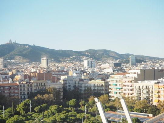Arenas de Barcelona(アレナス・デ・バルセロナ)から望むバルセロナの街並み
