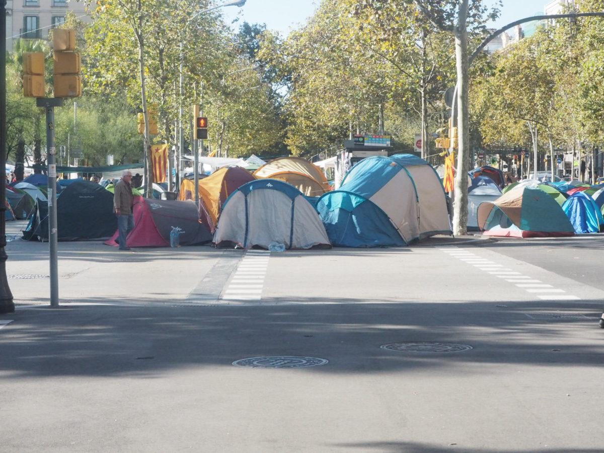 バルセロナのデモ