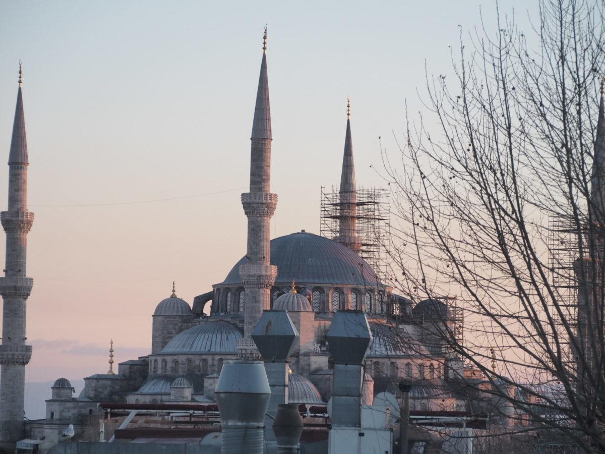 スラハギアソフィアホテル(Sura Hagia Sophia Hotel)の部屋から見たブルーモスク
