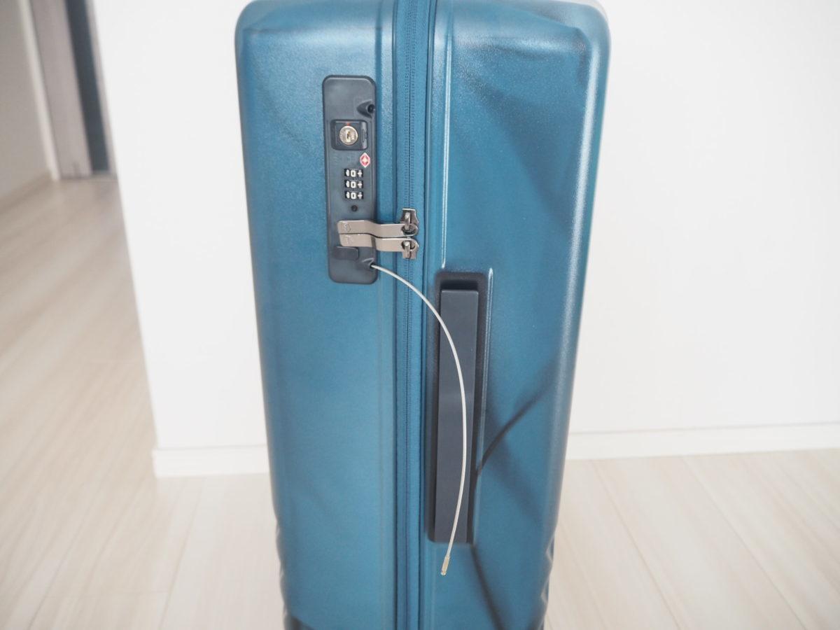 エース(ACE)のハントソロ(HaNT solo)スーツケースのワイヤーを伸ばした場合