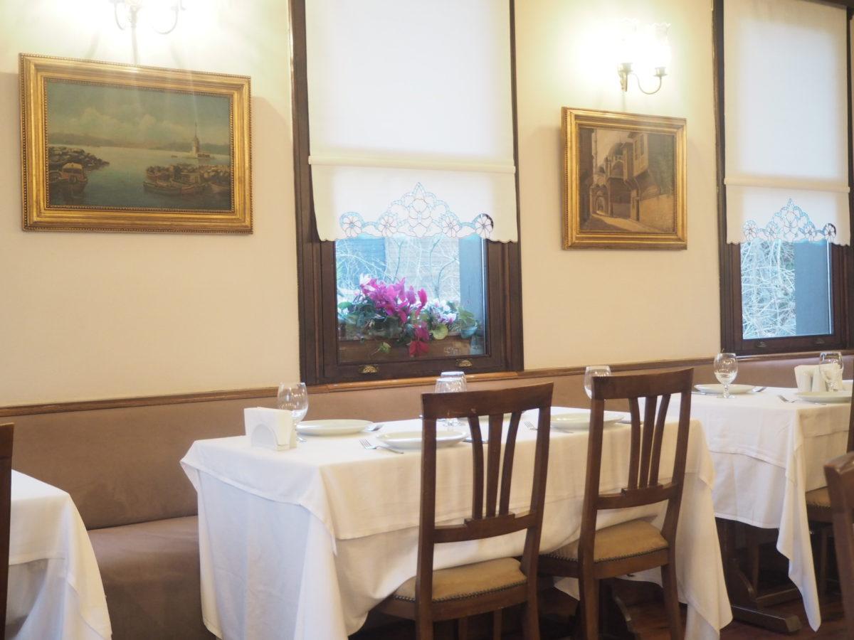 イスタンブールのトルコ料理レストラン「ギリットリ」の店内