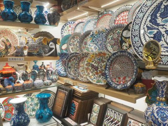 グランドバザールにあるキュタフヤ陶器のお店