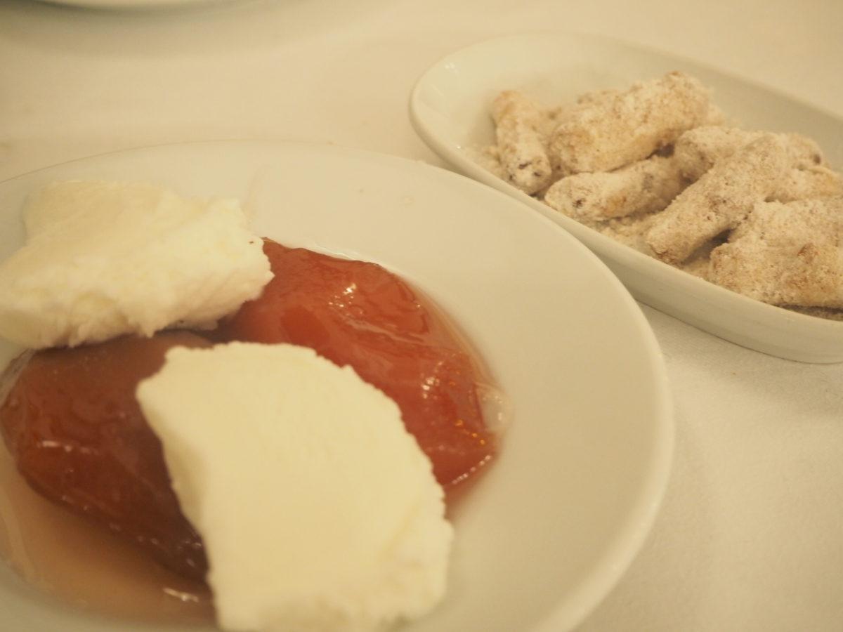 イスタンブールのトルコ料理レストラン「ギリットリ」のコースデザート