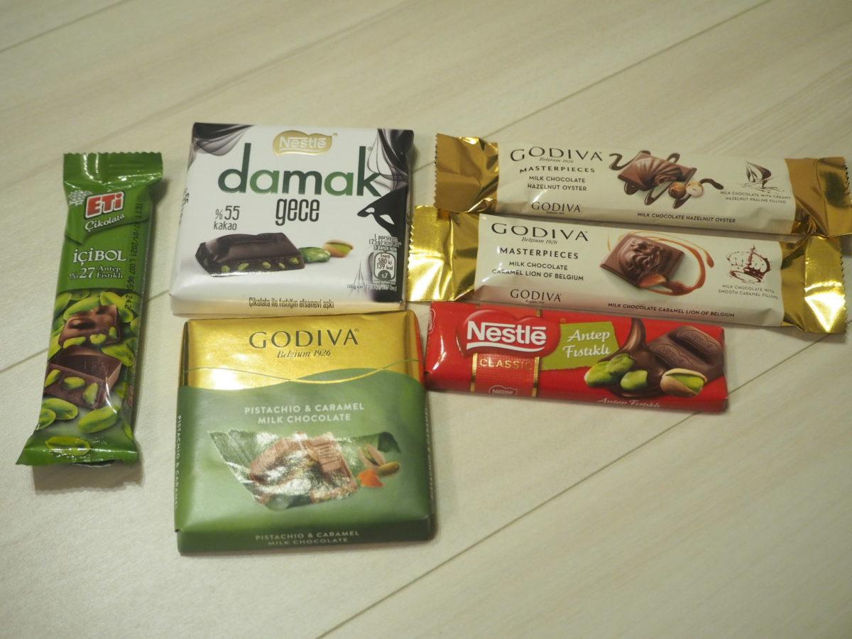 トルコのスーパーで購入したチョコレート
