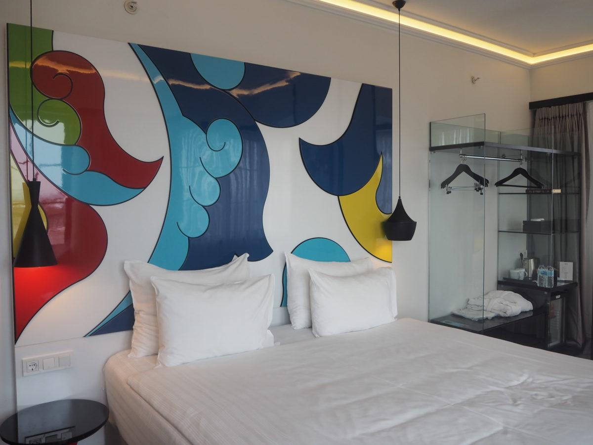 スラハギアソフィアホテル(Sura Hagia Sophia Hotel)のデラックスルームのベッド