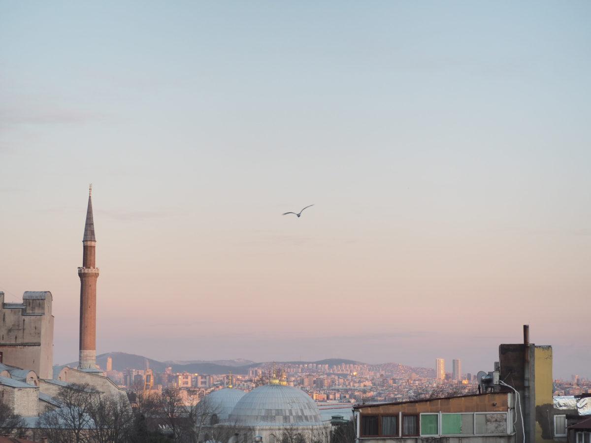 スラハギアソフィアホテル(Sura Hagia Sophia Hotel)の部屋から見たイスタンブール旧市街