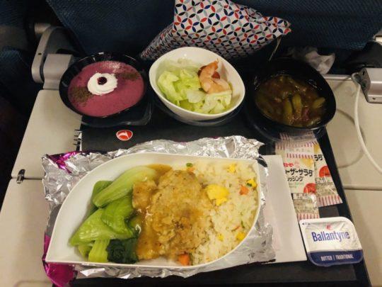 トルコ航空(ターキッシュエアラインズ)の機内食(夕食1:成田→イスタンブール )