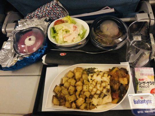 トルコ航空(ターキッシュエアラインズ)の機内食(夕食2:成田→イスタンブール )