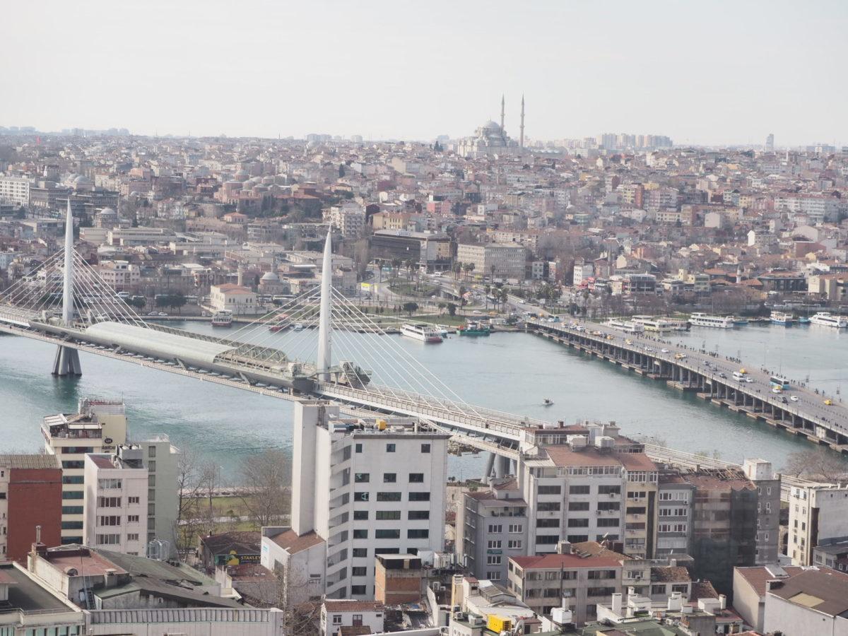 ガラタ塔から見たイスタンブールのアタトゥルク橋