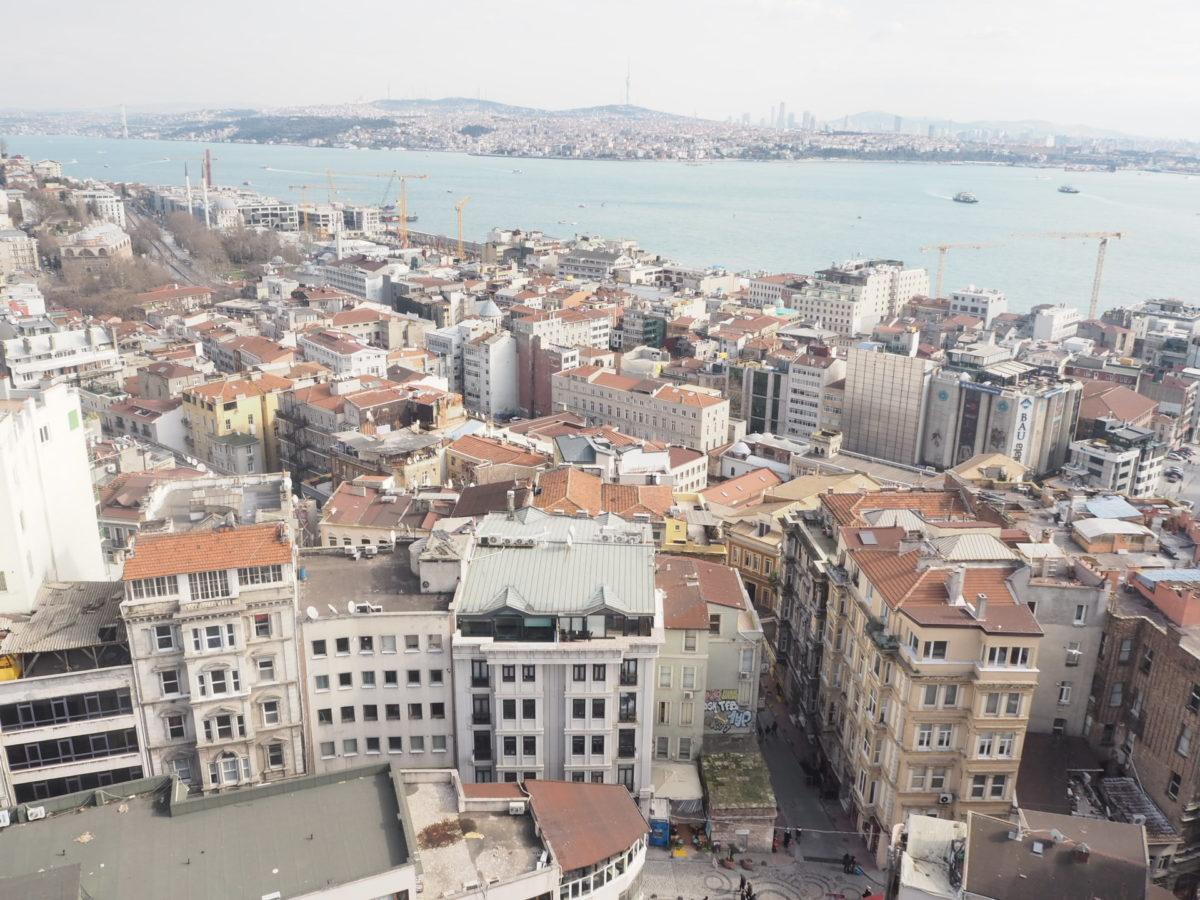 ガラタ塔から見たイスタンブールのアジアサイド