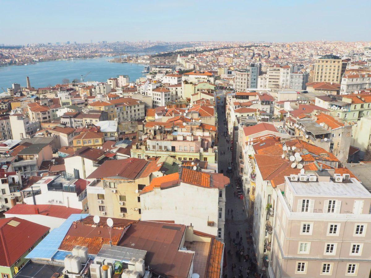 ガラタ塔から見たイスタンブールの新市街