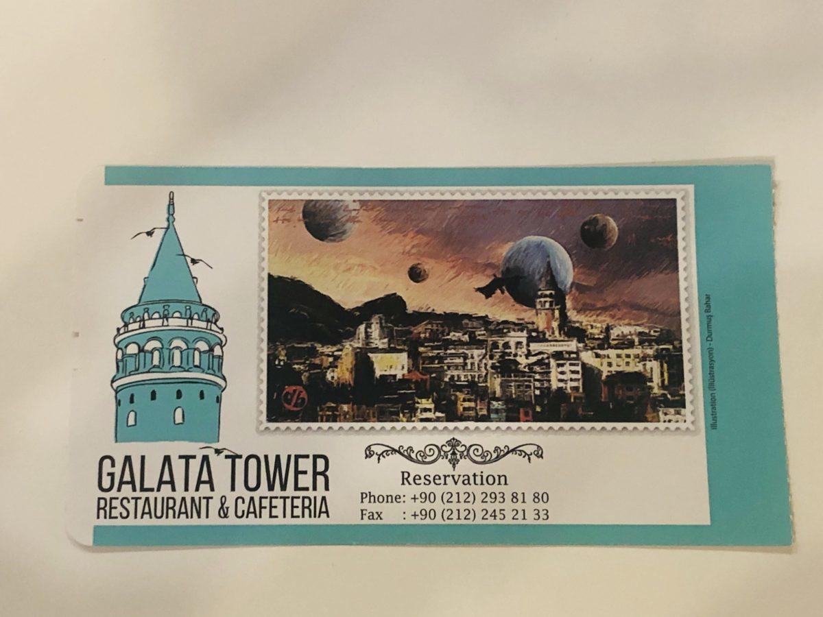 ガラタ塔の入場チケット