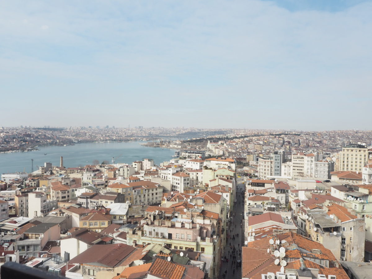 ガラタ塔から見たイスタンブールの街並み