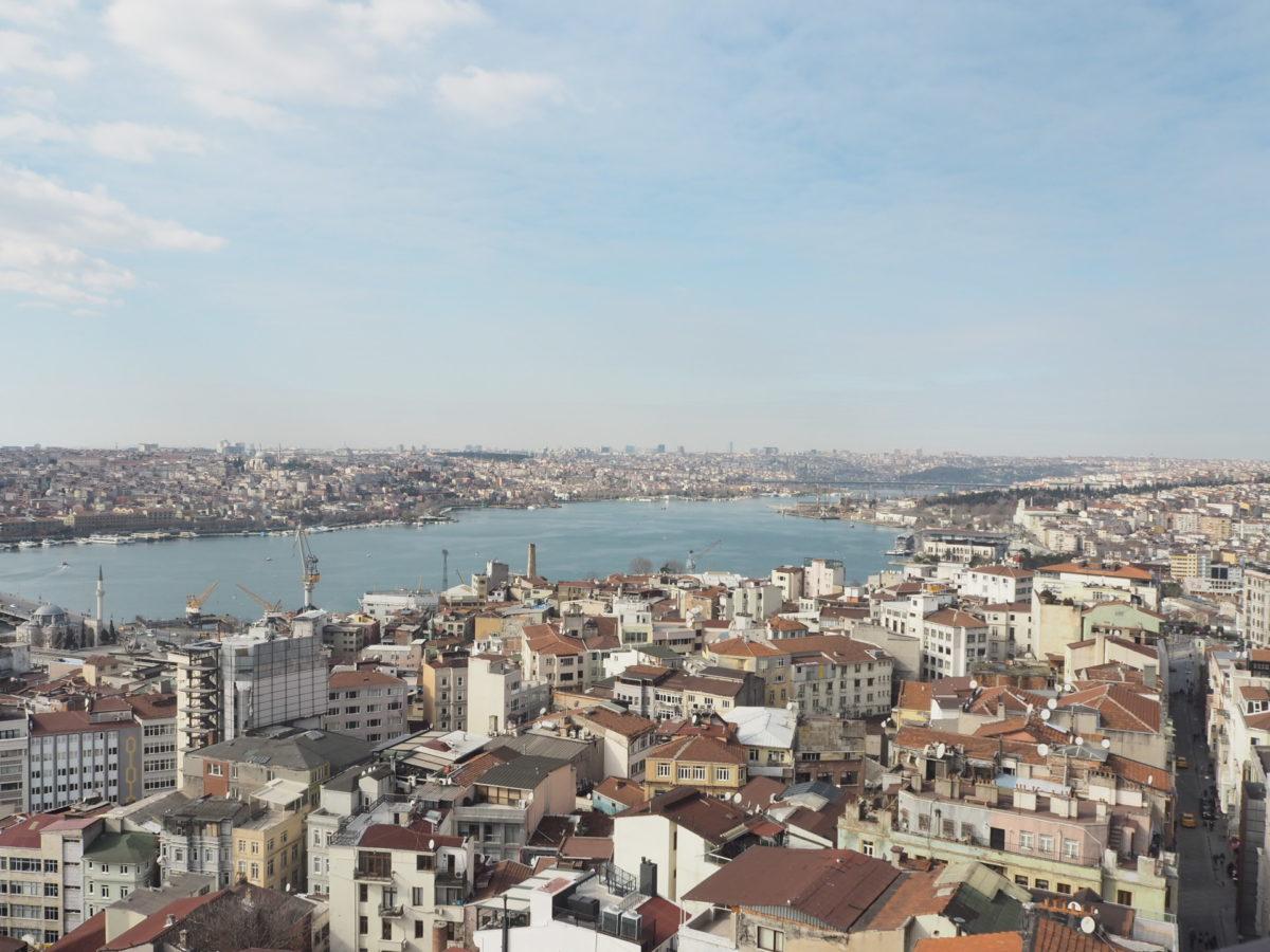 ガラタ塔から見たイスタンブールの街の広がり