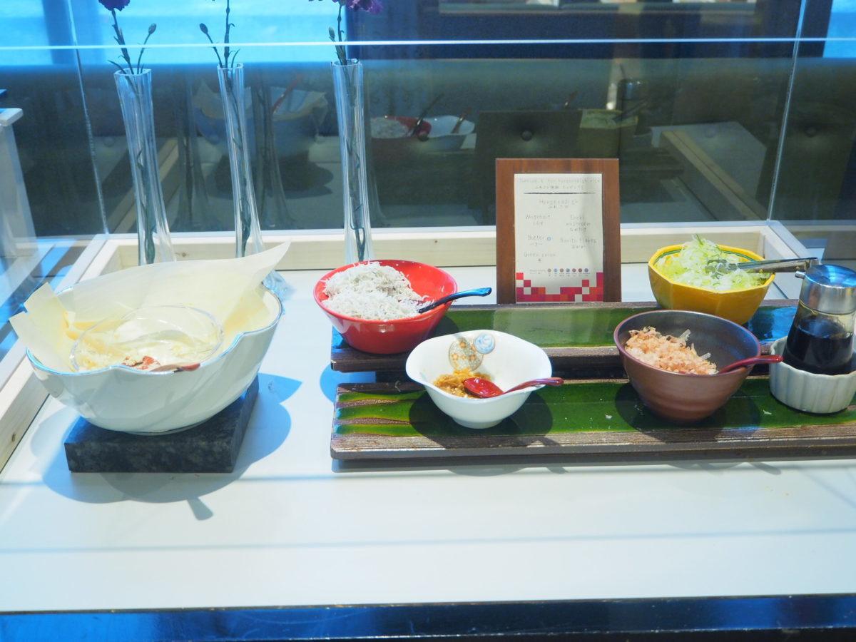 星野リゾートOMO7の朝食の和食材