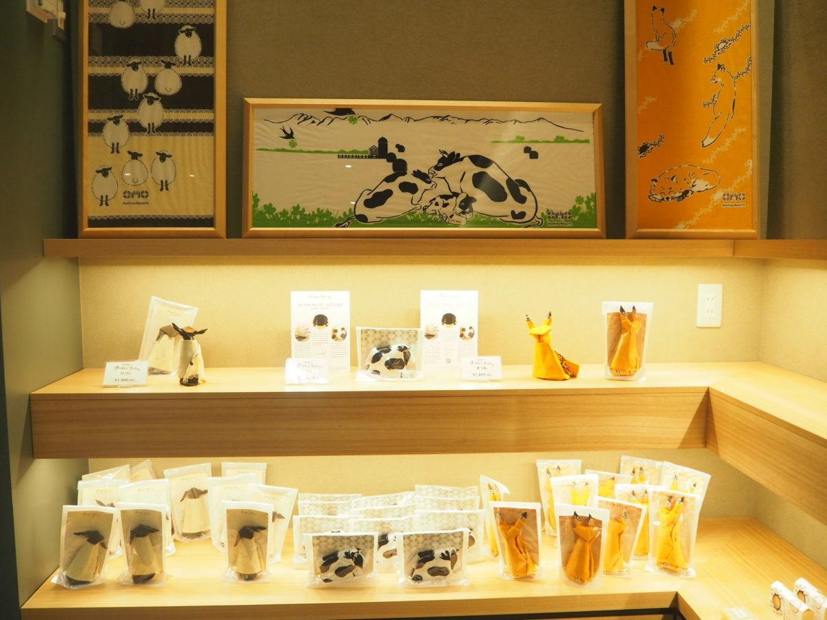 星野リゾートOMO7旭川のお土産コーナー(手ぬぐい)